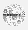 augmented reality circular concept ar vector image vector image