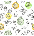 autumn seamless pattern with oak leaves vector image vector image