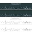 baghdad single line skyline banner vector image vector image