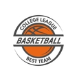 Basketball template Logo badge emblem vector image vector image