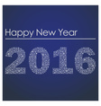 blue happy new year 2016 from little snowflakes vector image vector image