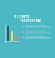 business infographic graph design collection vector image