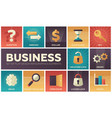 business - set of flat design infographics vector image vector image