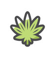 cannabis medical marijuana leaf icon vector image