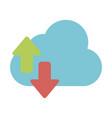 cloud computing symbol vector image vector image