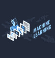 colorful machine learning vector image vector image