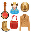 Cowboy Female Accessories vector image vector image