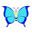 cute cartoon colorful butterfly vector image vector image