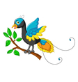 cute paradise bird cartoon vector image vector image