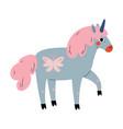 cute uncorn adorable fantasy animal character in vector image vector image