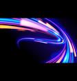 cyberpunk light trails vector image vector image