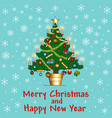 delicate background card with christmas tree with vector image