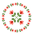 Design elements - round floral frame flower icon vector image
