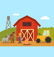 farm and animals livestock vector image