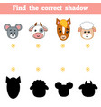 find correct shadow education game vector image vector image