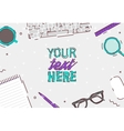 Flat design business office top view desk vector image vector image
