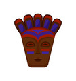 flat icon of ethnic wooden mask vector image vector image