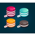 Four colored paper circles with place for your own vector image vector image