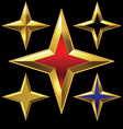 four-point golden star vector image vector image