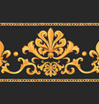 golden baroque rich luxury pattern vector image vector image