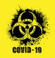 grunge circle covid19 hazard set vector image