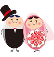 happy couple vector image vector image