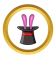 Hat with rabbit icon cartoon style vector image vector image