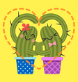 Heart Cactus2 vector image