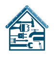 house with a tool for repairs vector image vector image