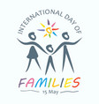 international day families vector image vector image