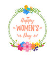 international womans day greeting card vector image vector image