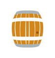 isolated beer barrel vector image vector image