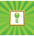 Key picture icon vector image