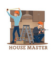 kitchen furniture assembly installation or repair vector image