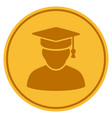 knowledge man gold coin vector image