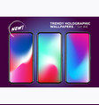 multicolor holographic wallpapers for smartphone vector image vector image