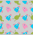 multicolored funny cartoon monsters alien or vector image