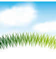 nature grass field background vector image vector image