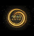 new year 2019 light effect background vector image