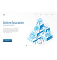 online education learning students teamwork e vector image