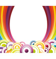 rainbow card template vector image vector image