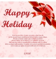Red bows background vector image