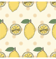 seamless fruit pattern of lemons vector image vector image