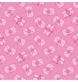 Seamless Pattern with Pink Envelopes vector image