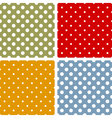 Seamless patterns with polka dots vector image