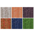seamless texture different color stone brick wall vector image