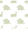 Seamless white background Bright dinosaurs vector image vector image