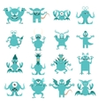Set of flat moster icons1 vector image vector image