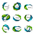 set of hexagon shape business emblems vector image vector image