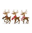 set of reindeer for christmas holiday season vector image vector image